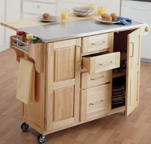 small portable kitchen island