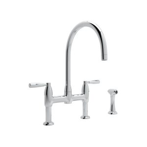 Bridge Faucet With Soap Dispenser